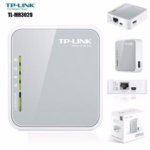 Roteador Portátil Wi-Fi Para Modem 3g / 4g Mr3020 Tp-link