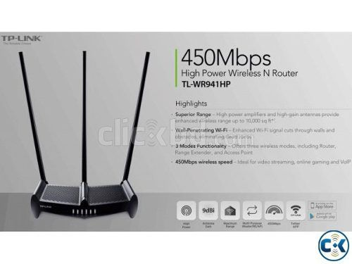 Roteador Wireless N 450Mbps TL-WR941HP High Power - TP-Link