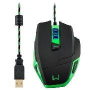 Mouse Gamer 3200dpi + MousePad Warrior Mo245 Multilaser