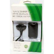 Kit Carregador E Bateria Pra Controle Xbox 360