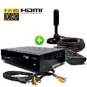 Kit Conversor Digital De Tv Com Gravador + Antena Hdtv