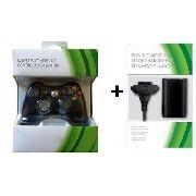 Controle Xbox 360 Sem Fio + Kit Carregador + Bateria