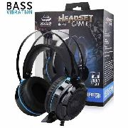 Fone Headset Gamer Com Fio Pc Kp-417 Knup