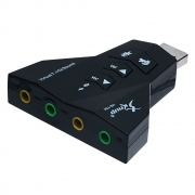 Adaptador placa som USB 7.1 canal virtual HB-T65 Knup