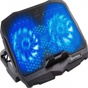 "Base Cooler para Notebook Até 17"" - 2 Fan  - 2 Usb - LED Azul - Hoopson BPN-005"