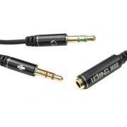 cabo de Áudio adaptador p3 Fêmea para 2 p2 Macho lelong max-0302f