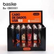 cabo De Dados usb 1000mm para celular com entrada v8 Ba-Cb00001 Basike