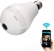 Câmera IP Lâmpada Led 360 VR-C9-C VR Cam Panorâmica Espiã Wifi Infravermelho Visão Noturna