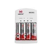 Carregador de Pilha e Bateria com Pilha AA MO-CP51 - Mox
