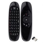 Controle Mini Teclado Air Mouse Wireless Sem Fio Tv 2,4 Ghz 400 Dpi