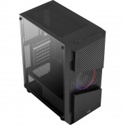 Gabinete Gamer Aerocool Menace Frgb, Mid Tower, Lateral de Vidro Temperado, Black
