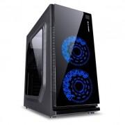 gabinete Gamer atx  com usb 3.0/2.0 preto c/led azul vx Vinik Gaming Crater