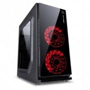 gabinete Gamer atx com usb 3.0/2.0 preto c/led vermelho vx Vinik Gaming Crater