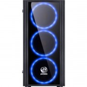 Gabinete Gamer Saturn com LED Azul - Pcyes