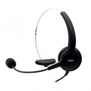 Fone Headset HS-101 com Microfone para Chamadas Telefônicas  com Conector RJ11 - Oex