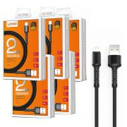 Kit 5 Cabos Iphone Lightning Reforçado USB 2 Metros LDNio