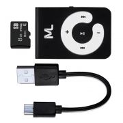 Kit Mp3 Player + Cartão 8GB + Cabo USB Multilaser - MC300