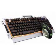 Kit Teclado E Mouse Gamer Com Fio Jp-133