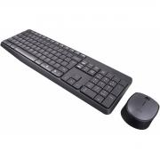 Kit Teclado e Mouse Sem Fio Logitech MK235