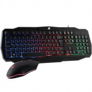 Kit Teclado + Mouse Gamer USb 2.0 Rainbow Rgb  Dazz Battlefire Revolution 625021