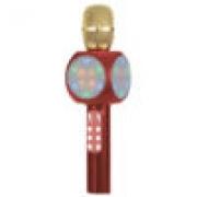 Microfone Bluetooth Karaoke Voice MT1033 Tomate Leds efeitos sonoros Radio FM