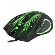 Mouse Gamer Com Conexão Usb Led Óptico 2400 Dpi Com 6 Botões Shinka X9