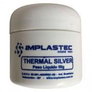 Pasta Termica Prata 50g - Thermal Silver - Pote - Implastec