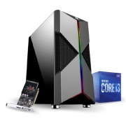 PC Gamer 10ª Geração - I3 10100F - GT 1030 2GB - 8GB RAM - SSD 240GB - 350w