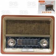 Rádio Retrô 8 Bandas E Lanterna 3W Ecooda ec-103bt