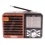Radio Retro Am Fm Com Usb Sd 9 Bandas Caixa De Som Estilo Antigo Recarregável