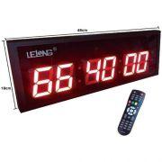 Relógio Digital Grande Parede Lelong Le-2119