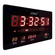 Relógio Parede Mesa Led Digital Calendário Termômetro Le2132 - Lelong