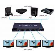 Splitter Hdmi 1x4 Divisor 4 Portas P/ Ps3 Xbox Sky Net Hd
