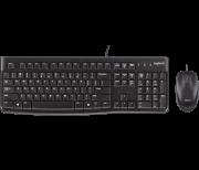 Teclado e Mouse Com Fio USB Preto Básico Logitech MK120