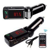 Transmissor FM Para Rádio Veicular - Bluetooth USB P2