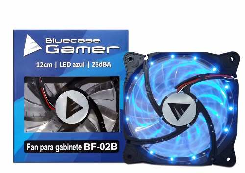 Gabinete Gamer Bluecase Bg-015 + 3 Cooler Led Azul