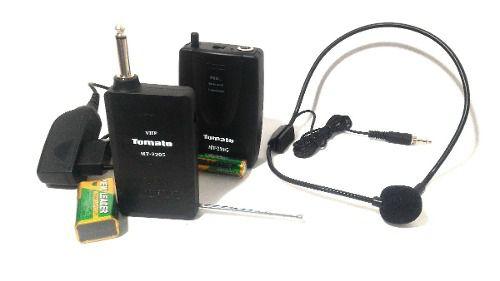 Microfone Sem Fio Headset Completo Mt-2205 Tomate