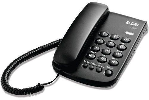 Telefone Com Fio Com Chave De Bloqueio Preto Tcf-2000 Elgin