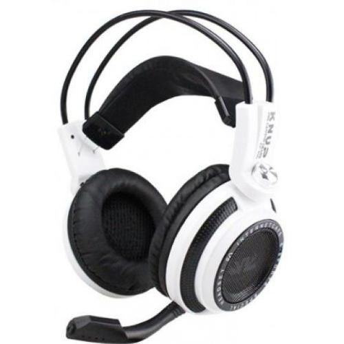 Headset Gamer Fone P2 Usb 7.1 Virtual Branco Kp-400 Knup