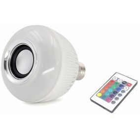 Lampada Musical Bluetooth Led Com Controle Rgb Colorida