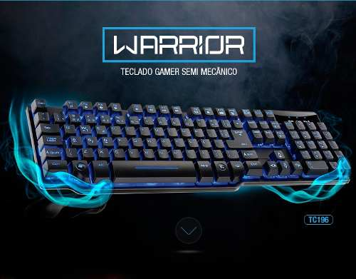 Teclado Semi Mecânico Gamer Warrior Tc-196 Multilaser