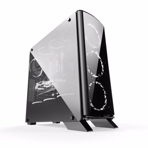 Gabinete Gamer Mid Tower Lateral De Vidro Bg-007 Bluecase