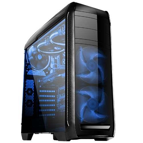 Gabinete Bluecase Bg-024 Gamer Atx Acrílico + 5 Fan S/fonte
