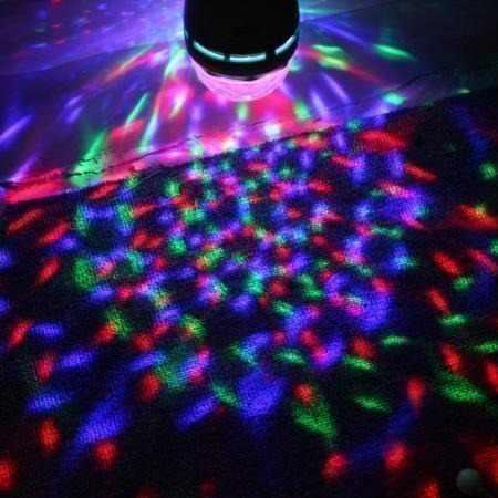 Lâmpada Led Colorido Giratória Rotativa Bola Maluca Festa