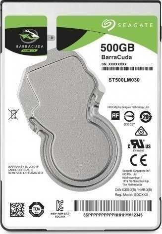 Hd 500gb Notebook Sata 6gbs St500lm030 Barracuda Seagate