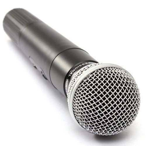 Microfone Duplo Sem Fio Uhf Wireless Profissional Le 906