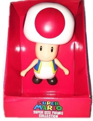 Turma Do Super Mario - Boneco Toad Cogumelo Coleção - 20cm