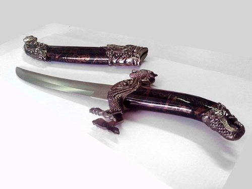 Espada Adaga Dragão Oriental Decorativa Para Cosplay