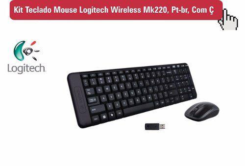 Kit Teclado E Mouse Sem Fio Wireless Mk220 Logitech
