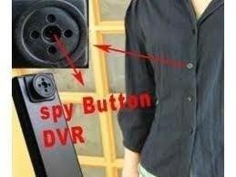Botão Espião Mini Câmera Escondida Filmadora 8gb Memória